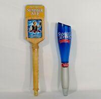 2 Sam Adams Beer Tap Handles - Wood Seasonal Brew 4-in-1 - Boston Lager