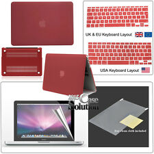 Rubberized Hardshell Case + Screen protector+UK Keyboard Cover for Apple MacBook