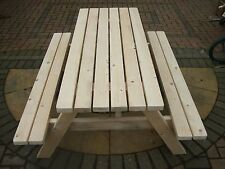 BRAND NEW HAND MADE PICNIC BENCH HEAVY DUTY PUB SEAT WOODEN