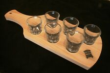 Bee Hive Set Of Six Shot Glasses In Wooden Tray Bee Lover Gift