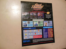 SHOCK TROOPERS 2ND SQUAD  MVS  NEO GEO     ARCADE   GAME  FLYER