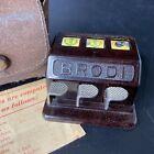 Vintage 1930's Schoenhut BRODI Slot Machine Gambling Toy Game Case