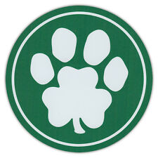 Green Dog Paw Clover Print Car Magnets - Great For St. Patrick's Day