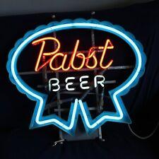 Pabst Beer Neon Sign Works! Franceformer Man Cave Decor!