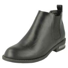 Scarpe da donna stivali alla caviglia neri elasticizzati