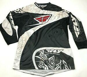 Fly Racing Motocross Jersey Size Extra Large XL Black Long Sleeve Shirt Men's MX