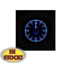 Dakota Digital 1955-56 Chevy Car Analog Clock - Black Alloy w/ Blue VLC-55C-K-B