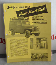VTG 1950s Advertising Willys Jeep 4-Wheel Drive Audio-Visual Unit Flier RARE