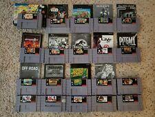 Lot of 20 Super Nintendo SNES Games w/ instructions- Star Wars, Super MK +++