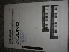 Roland Manual per Juno - 1 U. Juno - 2 in tedesco!