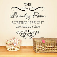 The Laundry Room Wall Sticker Art Vinyl Wall Decals Home Words Letters Decor New