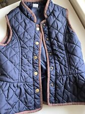 Janie and Jack Girls Blue padded Vest,size 3-4,worn 2 times