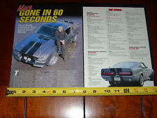 SHELBY GT500 ELEANOR GONE IN 60 SECONDS SANDERSON SALES - ORIGINAL 2003 ARTICLE