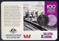 2015 anzacs remembered 20 Cent Australian Decimal Coin WW1 Gallipoli Landing