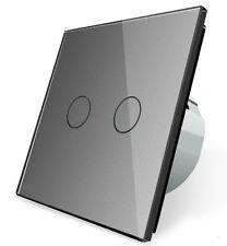 Glas Touch Lichtschalter Serienschalter Wandschalter VLC702-15 LIVOLO Grau