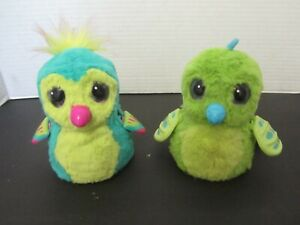 Lot of 2 Hatchimals Interactive Talking Toy Green (see Demo)