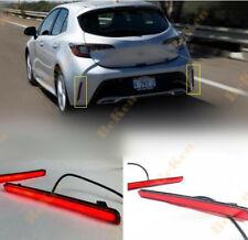 2019 2020 For Toyota Corolla Hatchback LED Rear Bumper Lamp Led Brake Light 2pcs