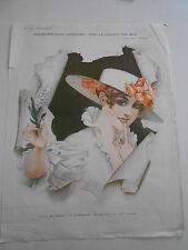 La Vie Parisienne 1918  Le Muguet des Bois Un baiser et une fleur Vintage Print