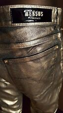 VERSUS VERSACE gold painted JEANS - worn once - Size L
