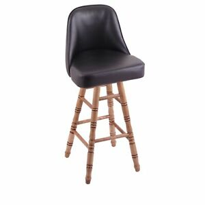 Holland Bar Stool Co. Grizzly Counter Stool with Turned Maple Legs, Dark Cher...