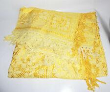 Vintage Tischdecke Gelb 148 x 180 cm Überwurf !