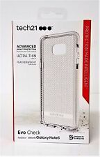 Tech 21 Samsung Note Galaxy Note 5 EVO Check Case CLEAR/WHITE Cover