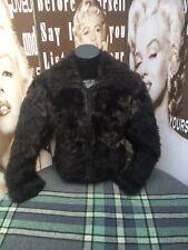 "0c0afed6e8ca5 Ladies Vintage Faux Fur Jacket Brown Soft Fluffy Cropped XS C32"" UK 6"