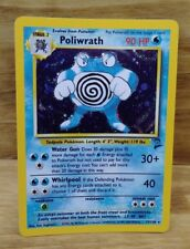 x 1 Pokemon Poliwrath - 15/130 - Holo Base Set 2 Near Mint