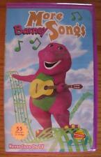 MORE BARNEY SONGS VHS VIDEO 1983 ( 55 minutes of 20 SONGS ) PURPLE DINOSAUR
