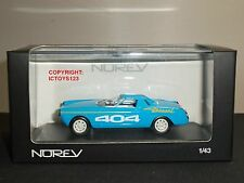 NOREV 474442 PEUGEOT 404 DIESEL DES RECORDS BLUE DIECAST MODEL CAR