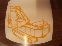 mini digger  logo decal self-adhesive vinyl stickers