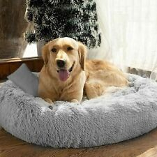 New ListingLong Plush Dog Beds For Large Dogs Pet Products Cushion Super Soft Fluffy Square