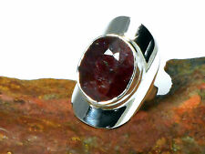 RUBY    Sterling  Silver   925  Gemstone  RING  -  Size : L   -  Gift Boxed!!