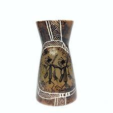 Vintage Australian Pottery Studio Anna Hand Painted Vase