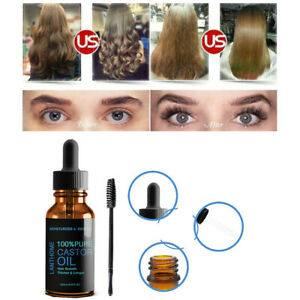 Pure Original Organic Castor Oil Eyelashes, Eyebrows, Hair Growth Castor Oil