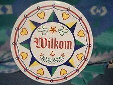 """ZOOK NOVELTIES HEX SIGN, 24"""" Wilkom (H-13)"""