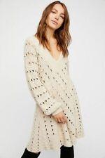 Free People Mia Sweater Dress Size Large L  NWT NEW Tea