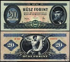 HUNGARY 20 FORINT 1965 BANKNOTE P#169.d UNGARN MAGYAR UNC