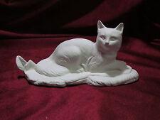 Ceramic Bisque Maine Coon Cat on Rock Base U-Paint Somali Norwegian Kitty