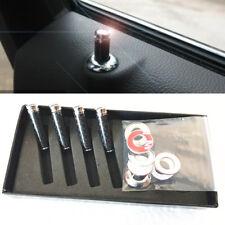 4Pcs Universal Car Truck SUV Auto Carbon Fibre Interior Door Lock Knob Pins