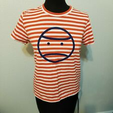 Tory Burch tory Sport face tee* orange stripe* small