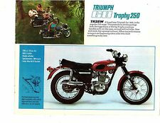 1968 Triumph 250 Trophy TR25W motorcycle sales brochure/flyer(Reprint) $6.50