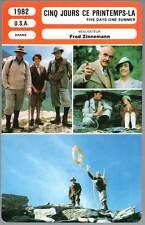 CINQ JOURS CE PRINTEMPS-LA - Connery (Fiche Cinéma) 1982 - Five Days One Summer