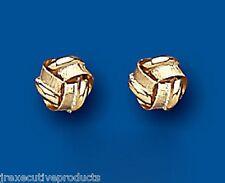 Knoten Ohrringe Gold Knoten Ohrstecker Gelbgold Stecker