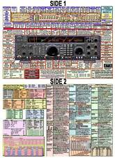 YAESU FT-1000MP MKV (& Field) AMATEUR HAM DATACHART EXTRA LARGE GRAPHIC INFO
