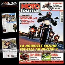 MOTO JOURNAL N°1692 HONDA 600 HORNET CBR 1000 RR YAMAHA FZ6 FAZER 125 XMAX 2005