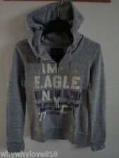 NWT Women American Eagle AE NYC GRAPHIC HOODIE GRAY S