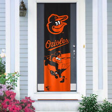 "Baltimore Orioles Door Banner 84"" [New] Flag Sign Uv Adjustable Cdg"