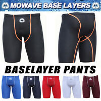 Mowave men base layer half pants shorts compression skin gym soccer sportswear