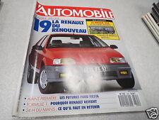 L AUTOMOBILE MAGAZINE N° 505 1988 LA RENAULT 19 DU RENOUVEAU *